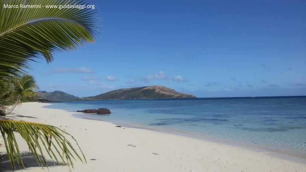 Blue Lagoon Beach, Nacula Island, Isole Yasawa, Figi. Autore e Copyright Marco Ramerini.