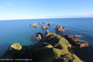 Gli scogli di Nugget Point, Catlins, Nuova Zelanda. Autore e Copyright Marco Ramerini