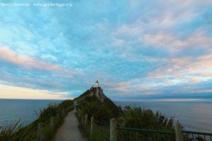 Il faro di Nugget Point, Catlins, Nuova Zelanda. Autore e Copyright Marco Ramerini.