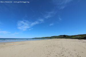 La spiaggia di Kaka Point,Catlins, Nuova Zelanda. Autore e Copyright Marco Ramerini