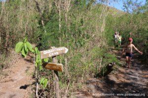 L'inizio del sentiero per il punto più alto dell'isola, Kuata, Isole Yasawa, Figi. Autore e Copyright Marco Ramerini