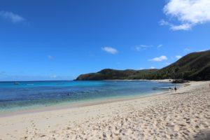 La spiaggia dell'Octopus Resort, Waya, Isole Yasawa, Figi. Autore e Copyright Marco Ramerini