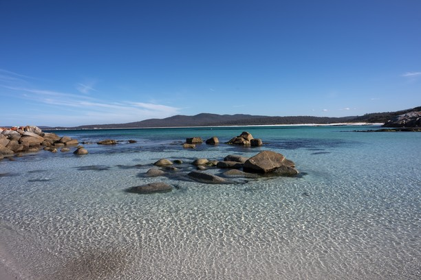 Honeymoon Point, Bay of Fires, Tasmania, Australia. Credit Tourism Australia,..