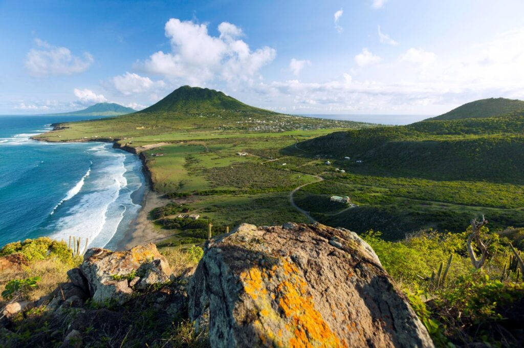 Panorama sull'isola di Sint Eustatius. Credit Cees Timmers
