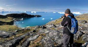 Sentieri di trekking lungo l'Icefjord, Ilulissat, Groenlandia. Autore e Copyright Almo
